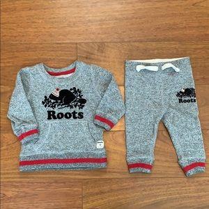 Roots Sweatshirt & Sweatpants 3/6 Months